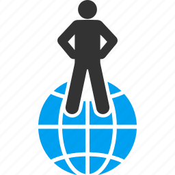 boss, dictator, global business, international, management, planet, world commander icon