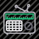 ads, advertisement, antenna, radio, tape icon