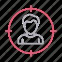avatar, focus, profile, target, user icon