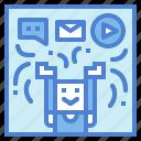 advertising, marketing, media, social, technology icon