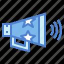 advertising, bullhorn, communications, speaker icon