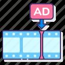 ad, advertising, dynamic, insertion, marketing icon