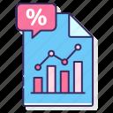 fill, percentage, rate, statistics icon