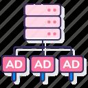ad, party, server, third icon