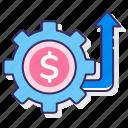 advertising, management, money, yield icon