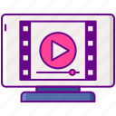 ad, advertising, completion, marketing, video icon
