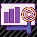 adtech, graph, seo, statistics icon