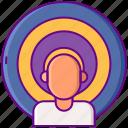 aim, behavioral, seo, targeting icon