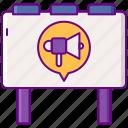 advertising, billboard, marketing, megaphone icon