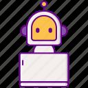 advertising, bot, driod, marketing icon
