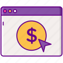 advertising, cpc, marketing, money icon