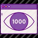 advertising, cpm, eye, media, views icon