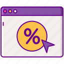 advertising, arrow, ctr, percentage icon