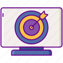 aim, contextual, seo, targeting icon
