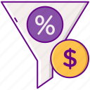 conversion, money, percentage, rate icon