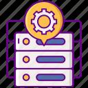 data, dmp, gear, seo, storage icon