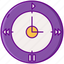 advertising, buttons, clock, daypart icon