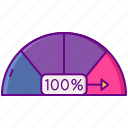 fill, meter, percent, rate icon
