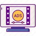 advertising, in, stream, video icon