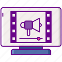 advertising, interactive, pre, roll, video icon