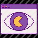 advertising, ecpm, eye, seo icon