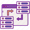 data, party, second, storage, switch icon