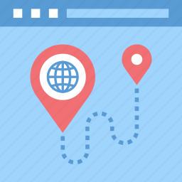 address, location, map, marker, navigation, site, web icon