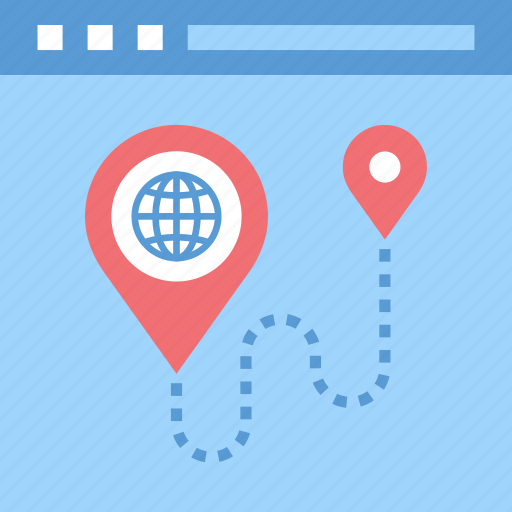 address, location, map, marker, navigation, site, web icon