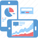 analytics, chart, dashboard, graph, mobile, phone, statistics
