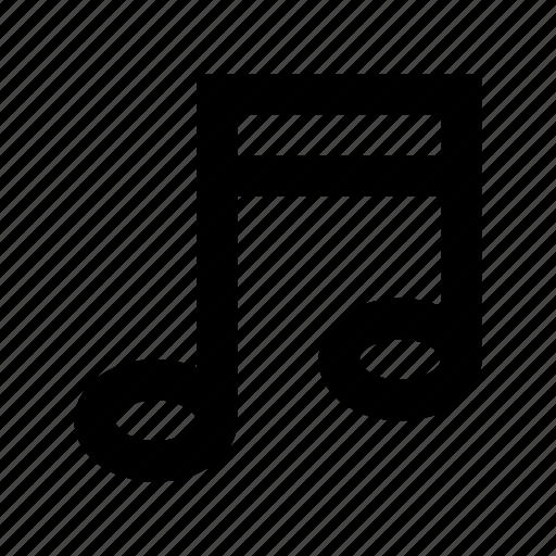 eighth note, music, music note, music symbol, quaver icon