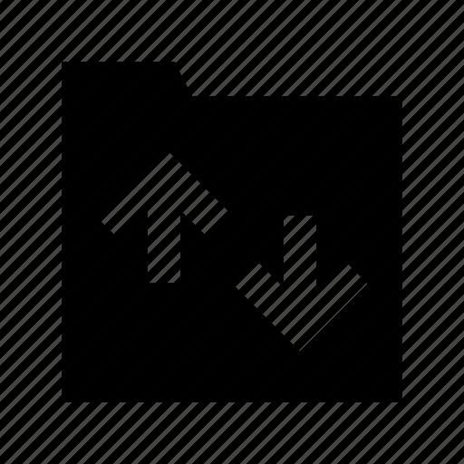 exchanging arrows, folder, folder exchanging, folder sharing, folder transferring icon
