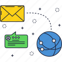 email, global, message, network