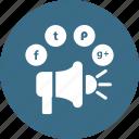 advertising, facebook, twitter, google +, pinterest, promotion, speaker