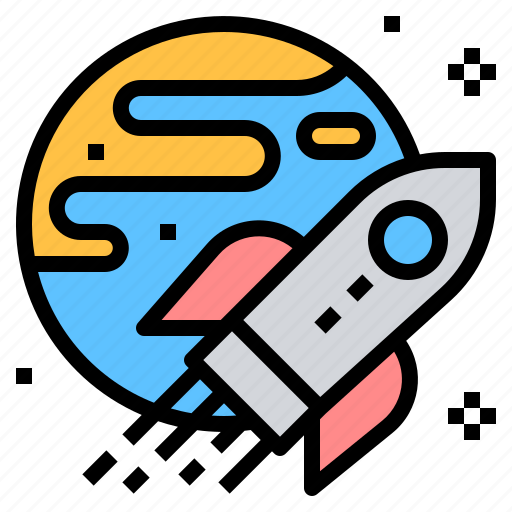aerospace, astronautic, earth, launch, spacecraft, spaceship icon