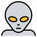 alien, avatar, face, monster, ufo icon