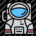 astronaut, astronomy, avatar, cosmonaut, space icon