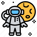 astronaut, cosmonaut, cosmos, planet, space icon