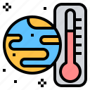ecology, global, hot, temperature, warning icon