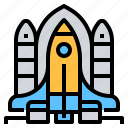 aeronautic, astronautic, rocket, space, station, technology icon