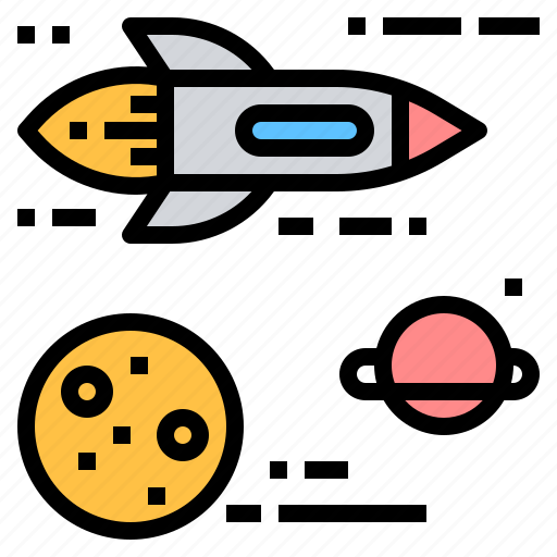 cosmos, fast, launch, space, spaceship, traveling icon