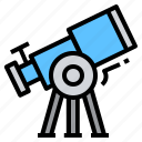 astronomy, explore, observation, planet, star, telescope icon
