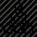 man, stars, thin, three, vector, yul942 icon