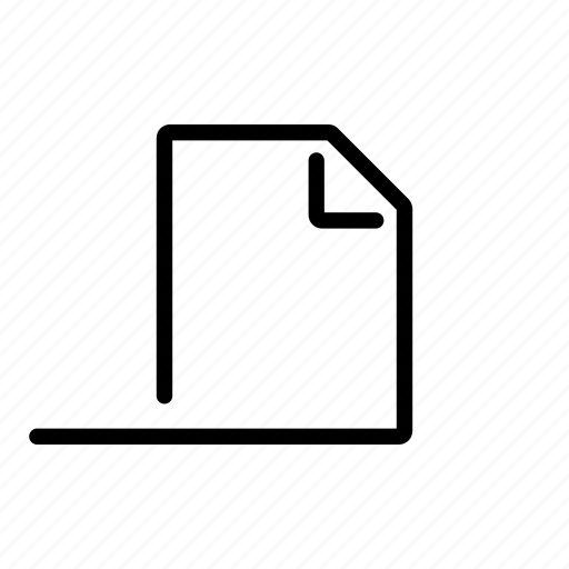 afloat, blanco, document, file, new, slide icon