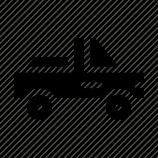 pickup, pickup truck, transportation, vehicle icon