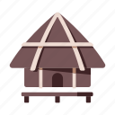 africa, african, african hut, hut, kenya, safari, village icon
