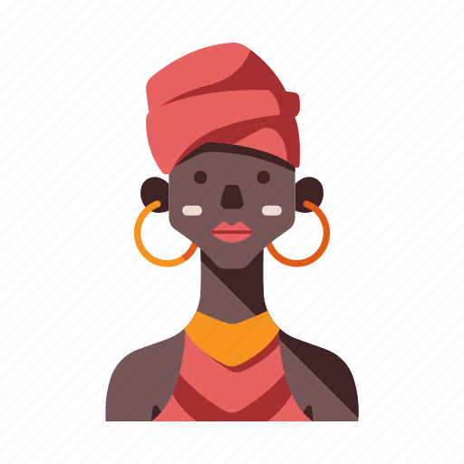 african, african tribe female, ethiopia, female, kenya, tribal, tribe icon