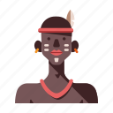 african, african tribe male, ethiopia, kenya, masai, tribal, tribe icon