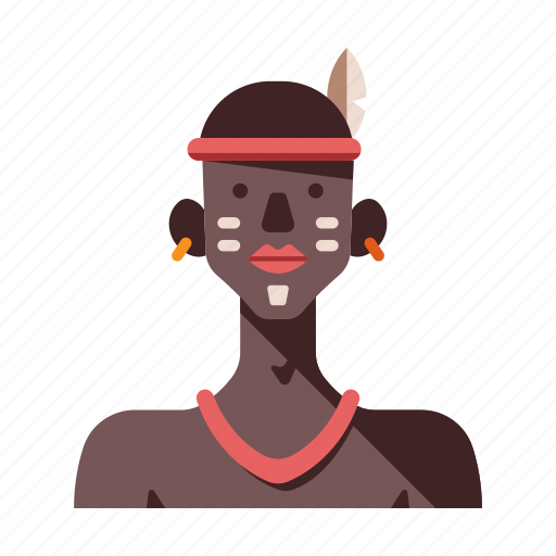 african, african tribe male, ethiopia, kenya, masai, tribal, tribe icon