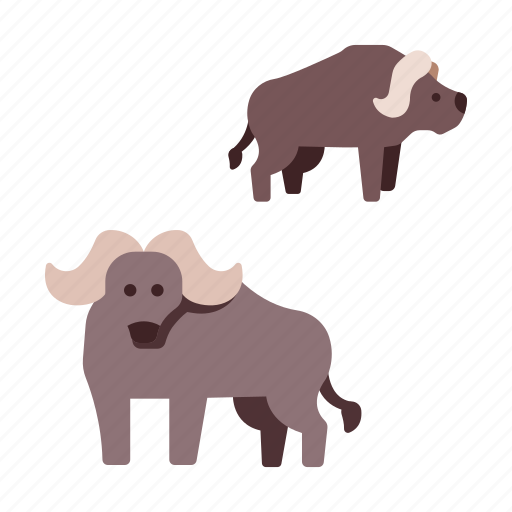 africa, animal, bison, buffalo, bull, mammal, wildlife icon