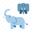 africa, african, animal, elephant, elephants, mammal, wildlife icon